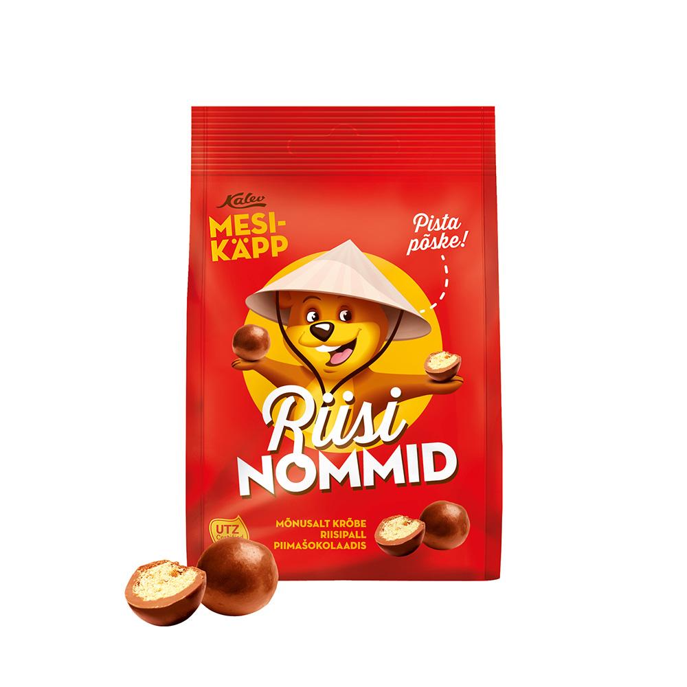 Mesikäpp Nommid riisipall piimašokolaadis. Kalev
