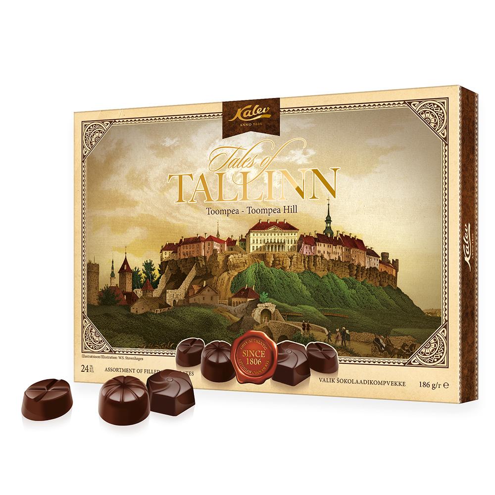 Kalev kommikarbid. Tallinna siluett valik šokolaadikompvekke