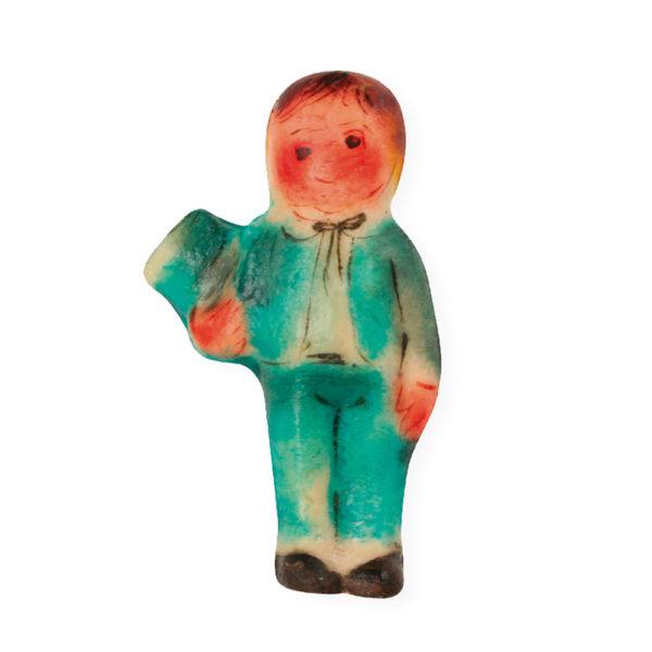 Kalev martsipan. Käsitsimaalitud martsipanikuju Poiss kõvakübaraga