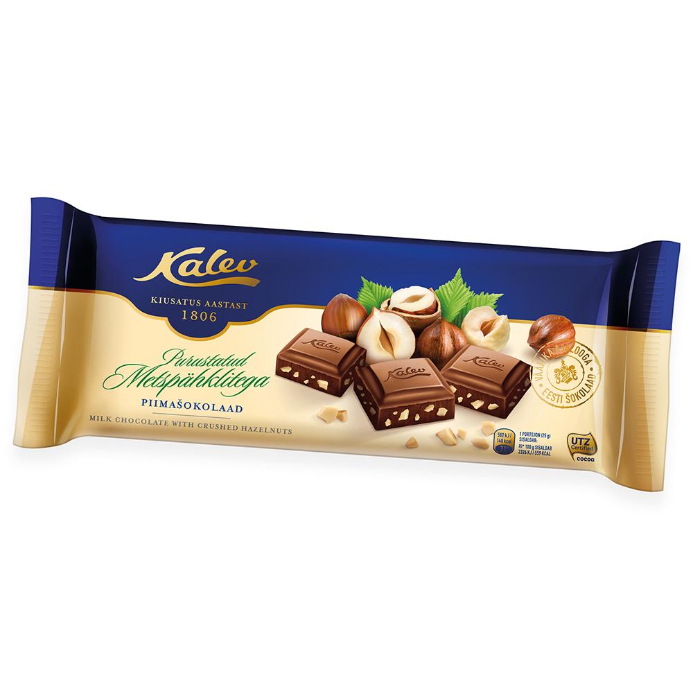 Kalev šokolaad purustatud metspähklitega