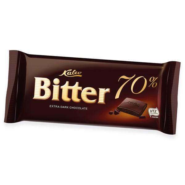 Bitter 70% eriti tume šokolaad. Kalev