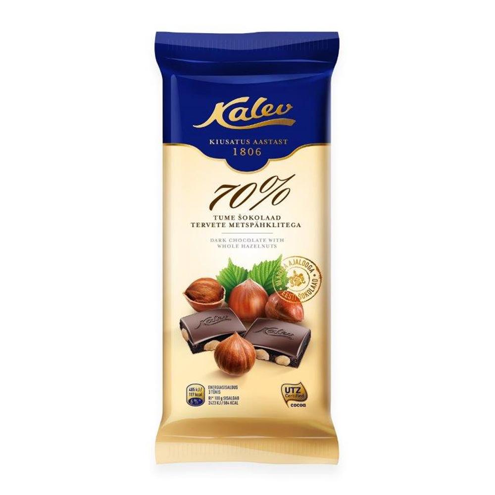 Kalev tume šokolaad tervete metspähklitega