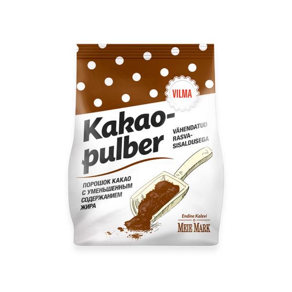 Vilma vähendatud rasvasisaldusega kakaopulber. Kalev