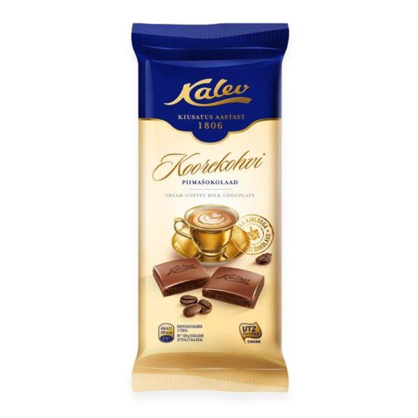 Šokolaad. Kalev koorekohvi piimašokolaad