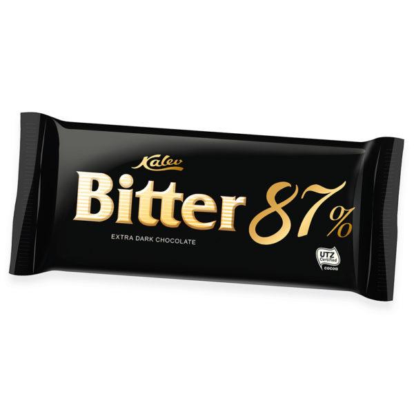 Bitter 87% eriti tume šokolaad. Kalev