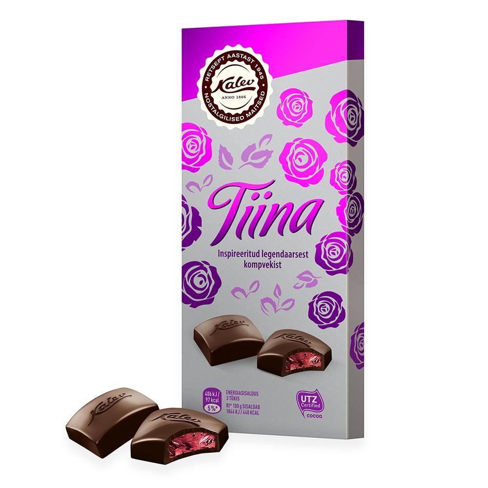 Kalev Tiina tume šokolaad täidisega