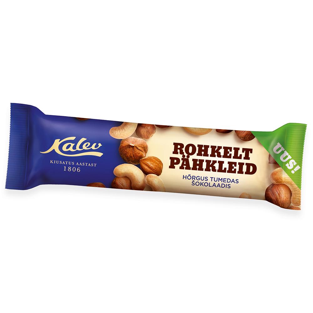 Batoon. Kalev pähklibatoon tumedas šokolaadis (36%)