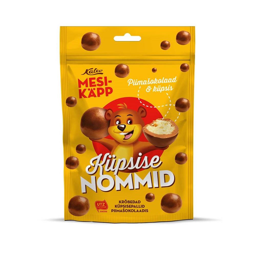 Mesikäpp Nommid küpsisepall piimašokolaadis. Kalev