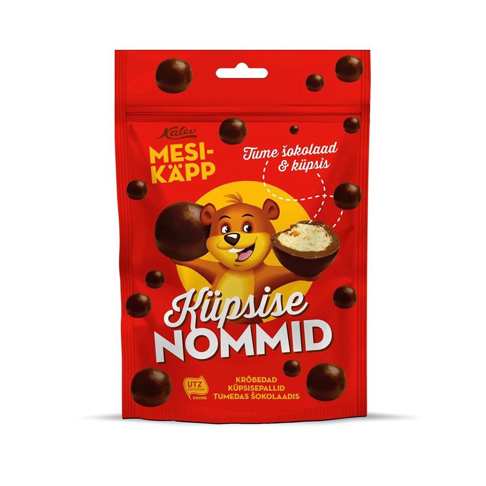 Mesikäpp Nommid küpsisepall tumedas šokolaadis. Kalev