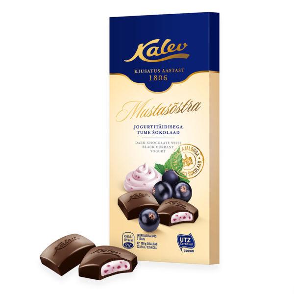 Kalev tume šokolaad mustasõstrajogurti täidisega