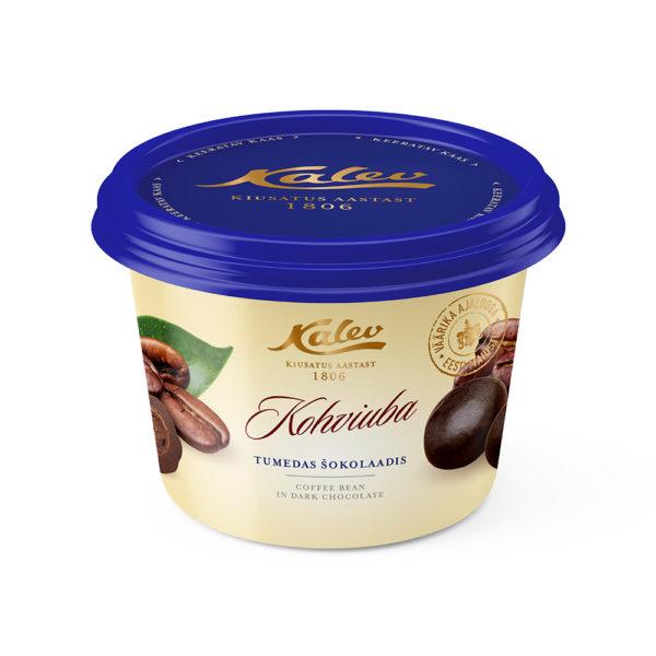 Kalevi kommid. Kalev kohviuba tumedas šokolaadis topsis