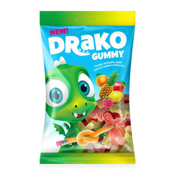 Drako kummikommid suhkruga Kalev
