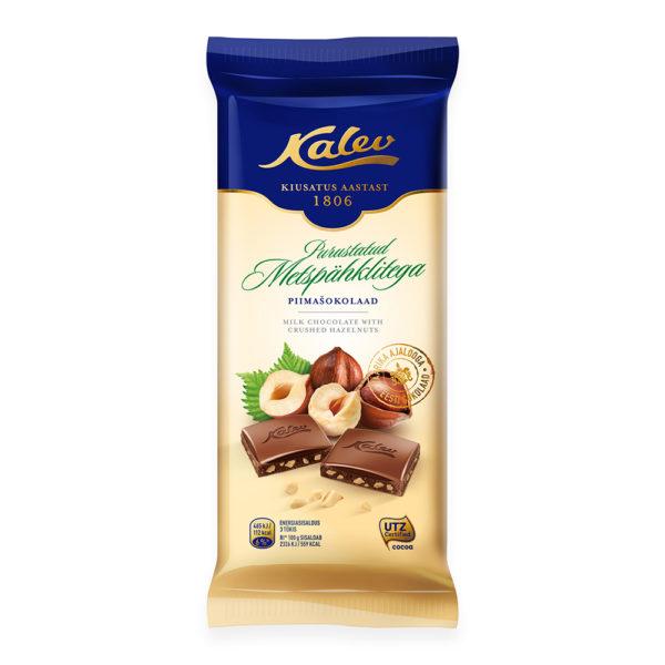 Kalev piimašokolaad purustatud metspähklitega