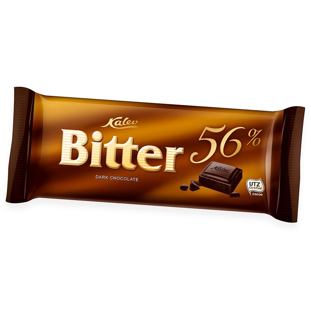 Kalev tume šokolaad Bitter 56%