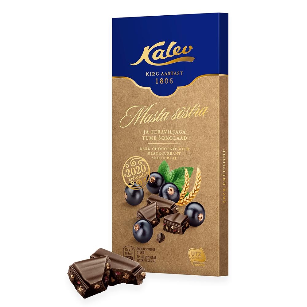 Kalev tume šokolaad musta sõstra ja teraviljaga