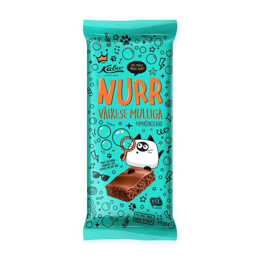 Kalev Nurr piimašokolaad väikese mulliga